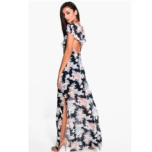 Tall Floral Maxi w/ Double Side Split.